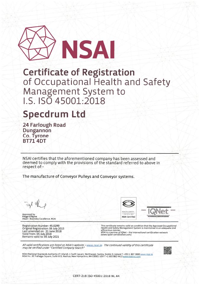 Nsai 45001 Certificate